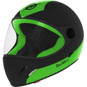 Visão frontal capacete Super Race New Olders